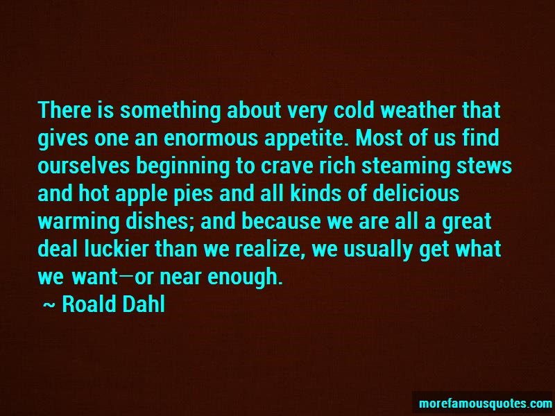 Roald Dahl Quotes: There is something about very cold