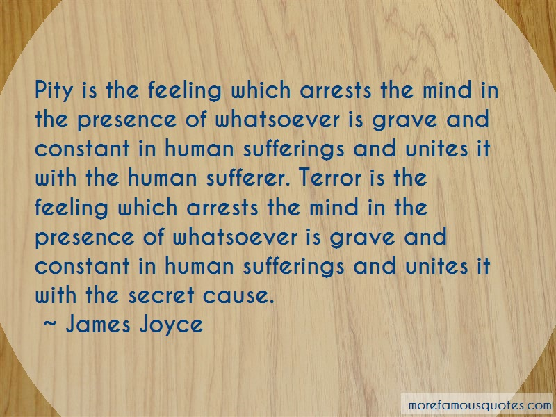 James Joyce Quotes: Pity Is The Feeling Which Arrests The