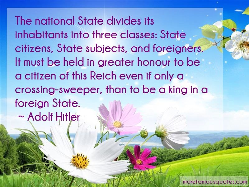 Adolf Hitler Quotes: The national state divides its