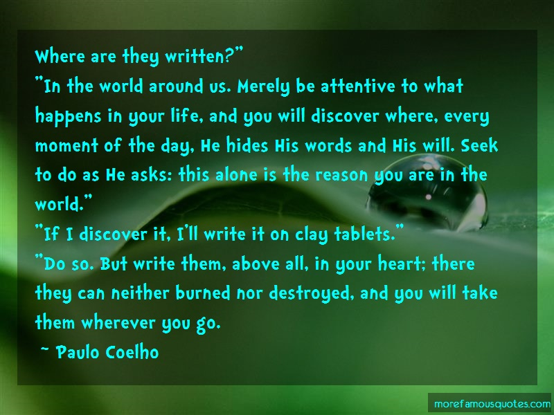 Paulo Coelho Quotes: Where are they written in the world