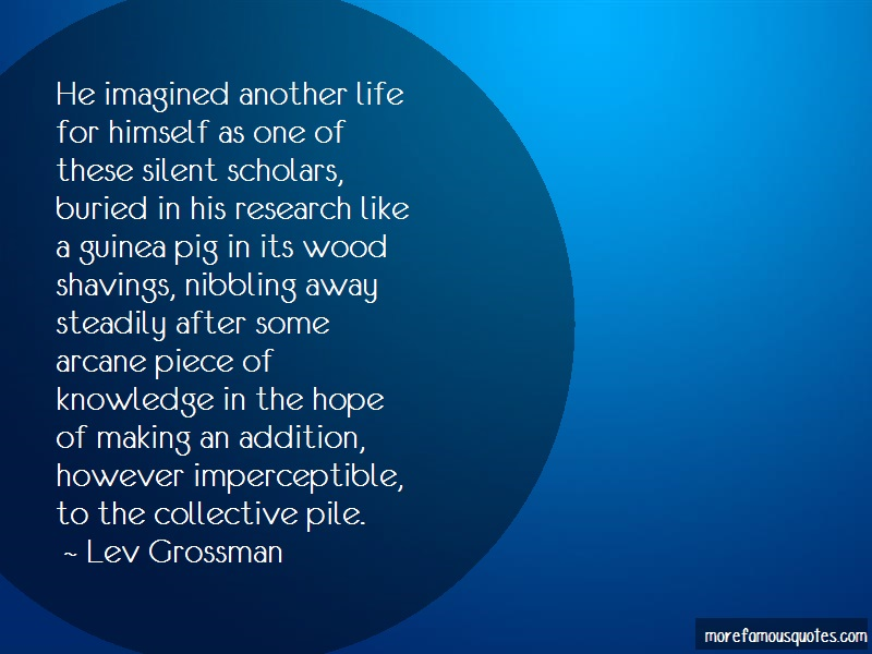 Lev Grossman Quotes: He imagined another life for himself as