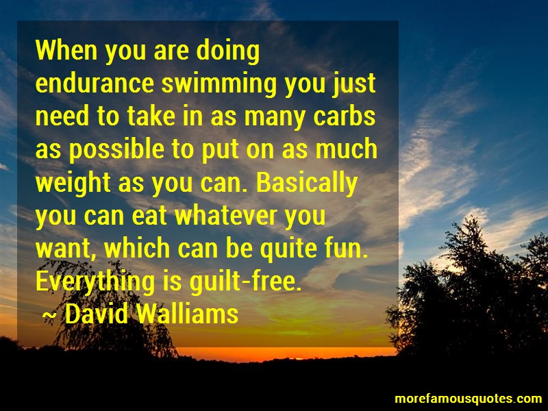 David Walliams Quotes: When you are doing endurance swimming