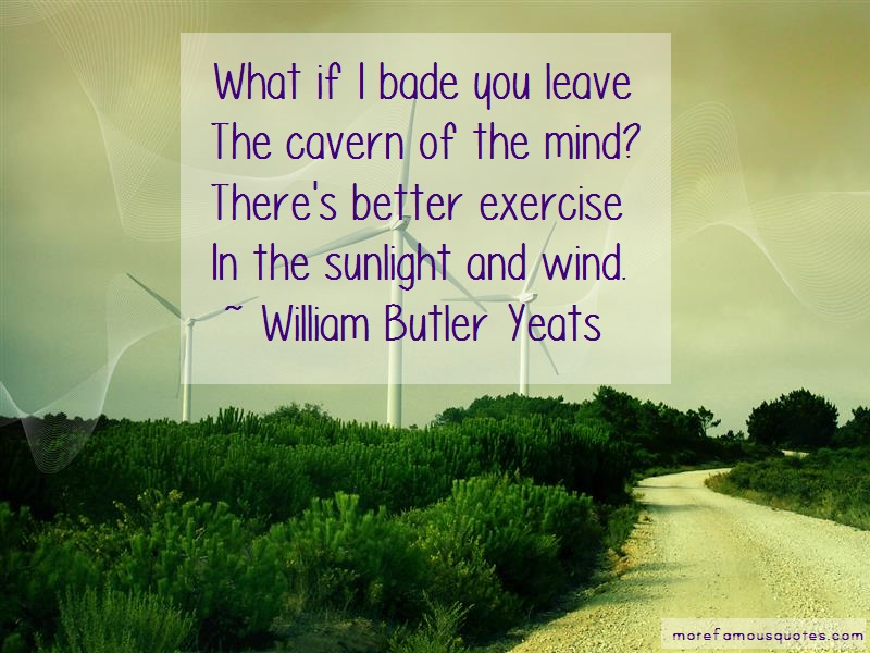 William Butler Yeats Quotes: What if i bade you leavethe cavern of