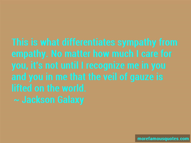 Jackson Galaxy Quotes: This is what differentiates sympathy