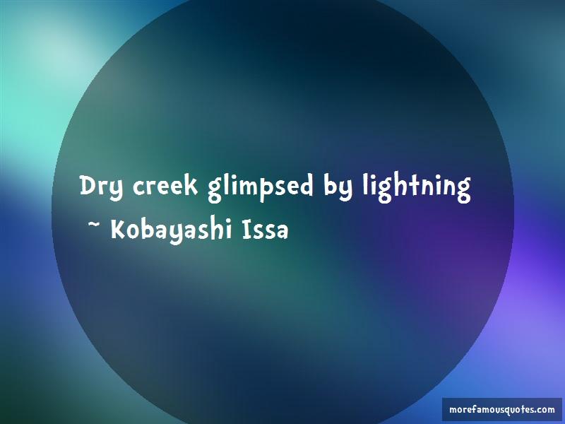 Kobayashi Issa Quotes: Dry creek glimpsed by lightning