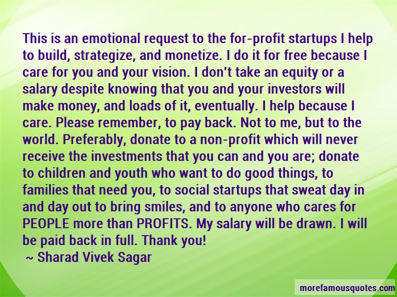 Sharad Vivek Sagar Quotes: This Is An Emotional Request To The For