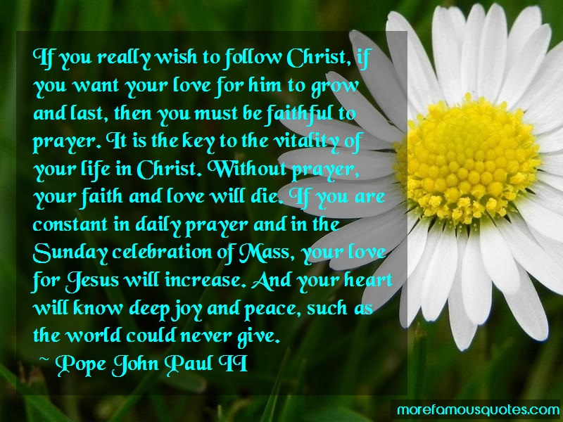 Pope John Paul II Quotes: If You Really Wish To Follow Christ If