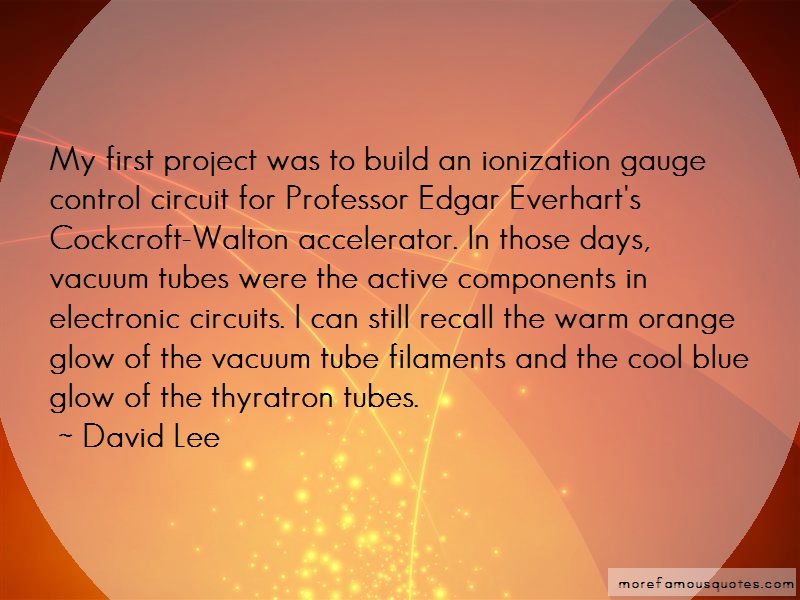 David Lee Quotes: My first project was to build an