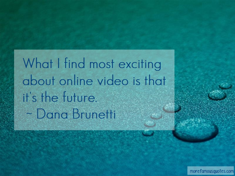 Dana Brunetti Quotes: What i find most exciting about online
