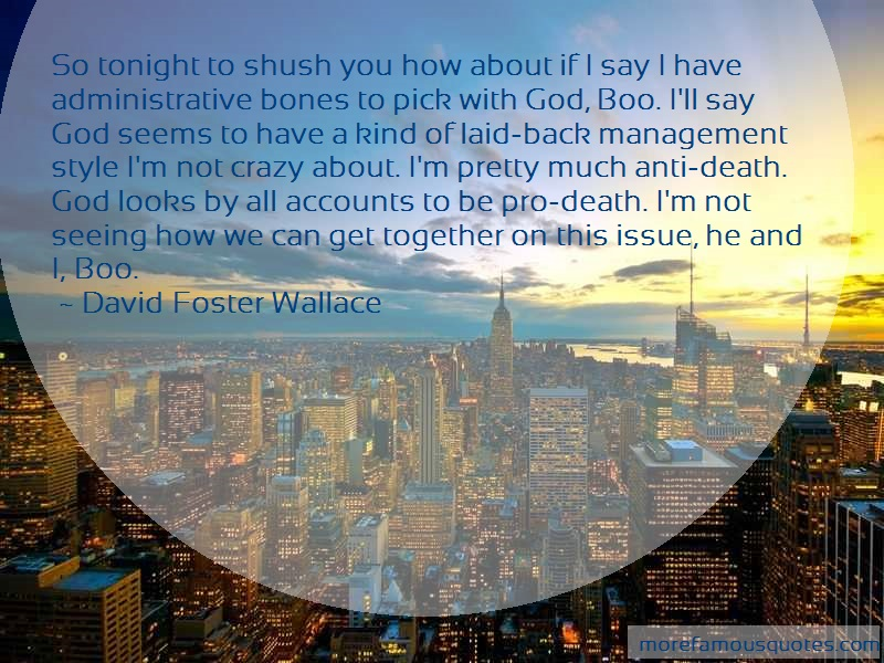 David Foster Wallace Quotes: So tonight to shush you how about if i