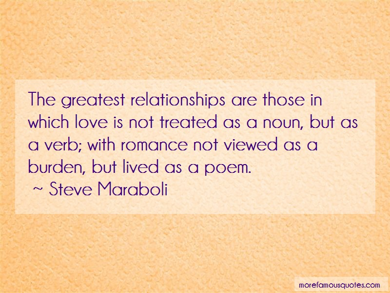 Steve Maraboli Quotes: The greatest relationships are those in