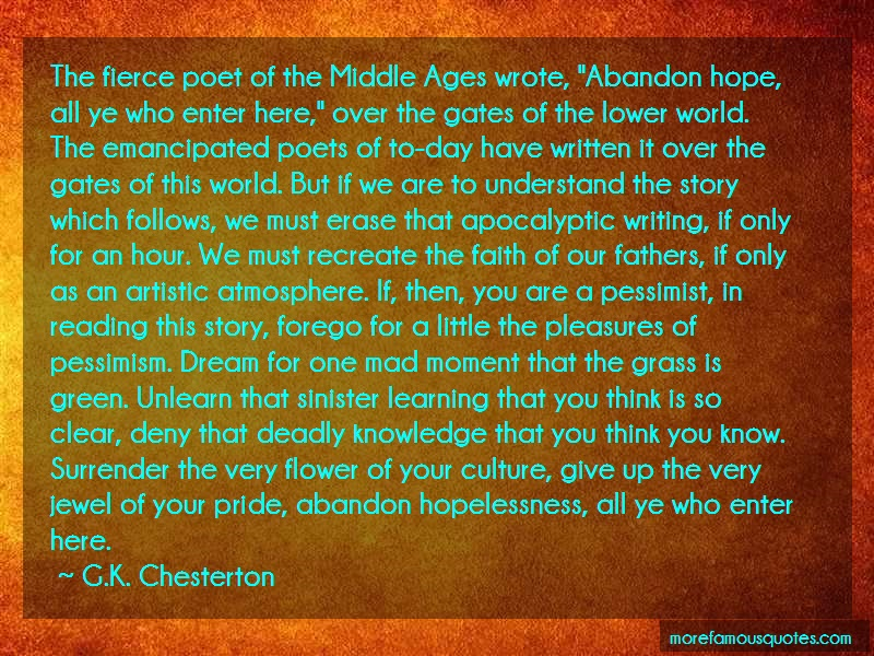 G.K. Chesterton Quotes: The Fierce Poet Of The Middle Ages Wrote