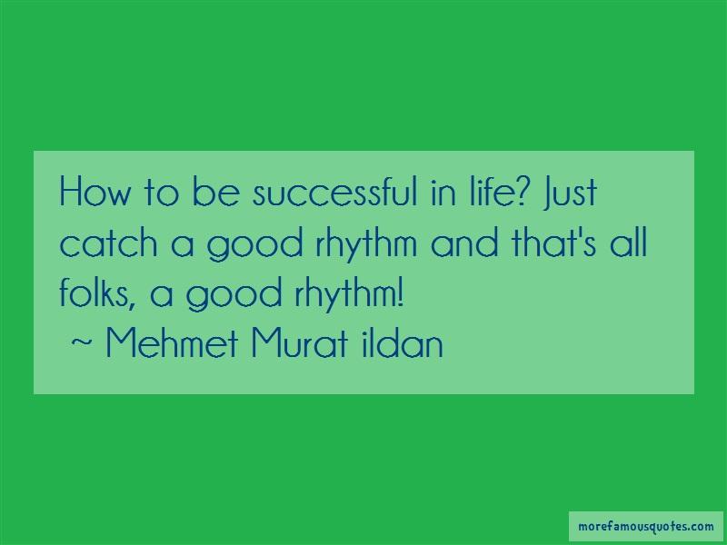 Mehmet Murat Ildan Quotes: How to be successful in life just catch