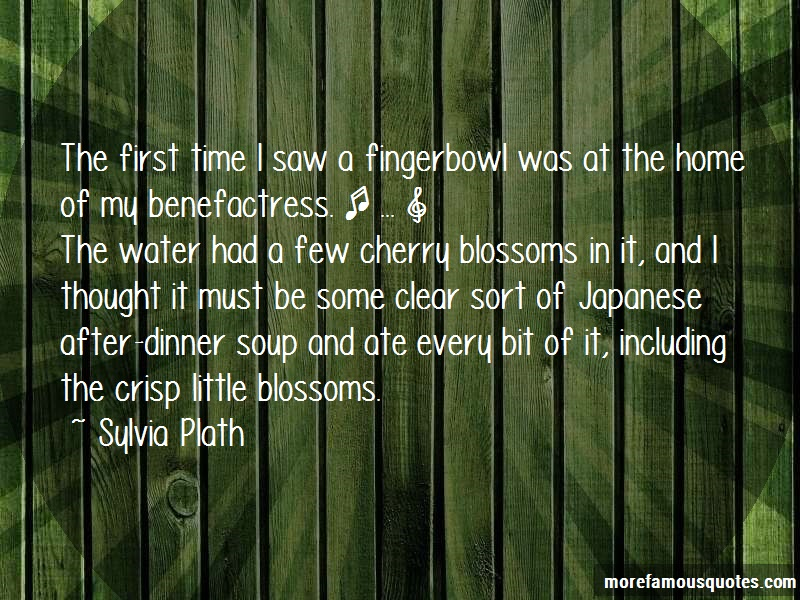 Sylvia Plath Quotes: The First Time I Saw A Fingerbowl Was At