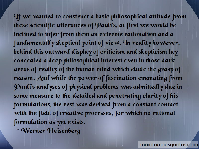 Werner Heisenberg Quotes: If we wanted to construct a basic