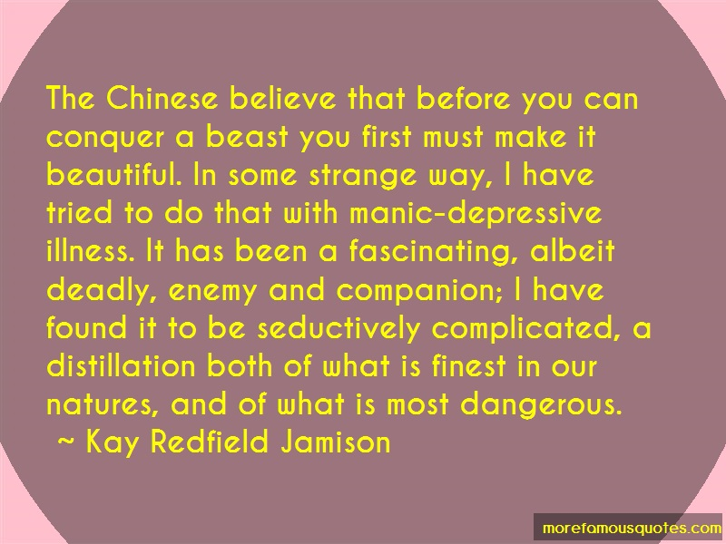 Kay Redfield Jamison Quotes: The chinese believe that before you can
