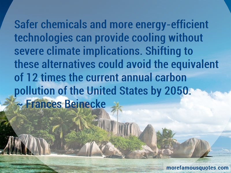Frances Beinecke Quotes: Safer chemicals and more energy