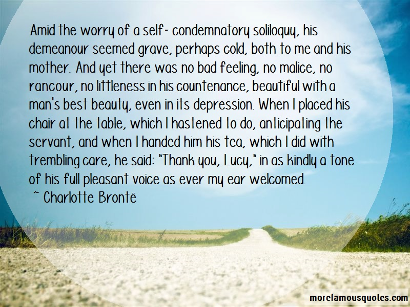 Charlotte Brontë Quotes: Amid the worry of a self condemnatory