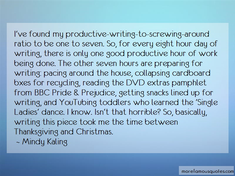 Mindy Kaling Quotes: Ive Found My Productive Writing To