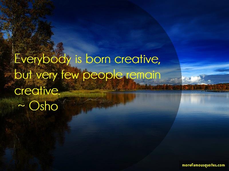people are born creative