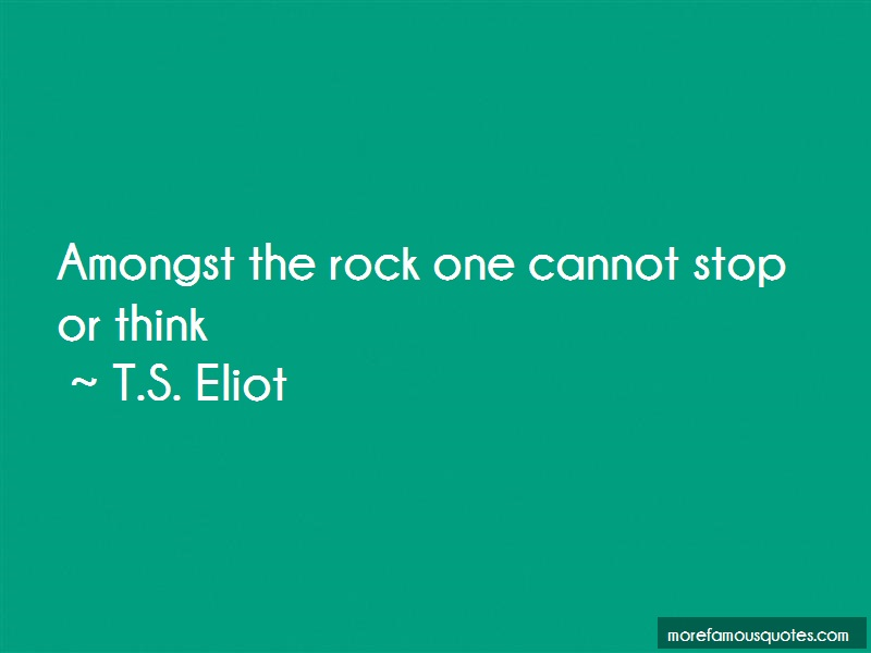 analysis of t s elliots the rock