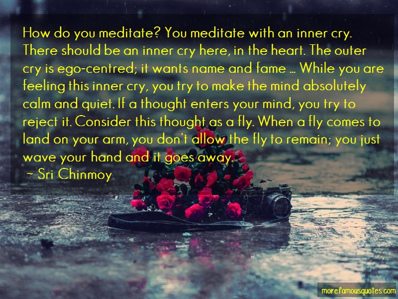 Sri Chinmoy Quotes: How do you meditate you meditate with an