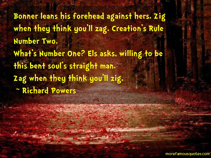 Richard Powers Quotes: Bonner Leans His Forehead Against Hers