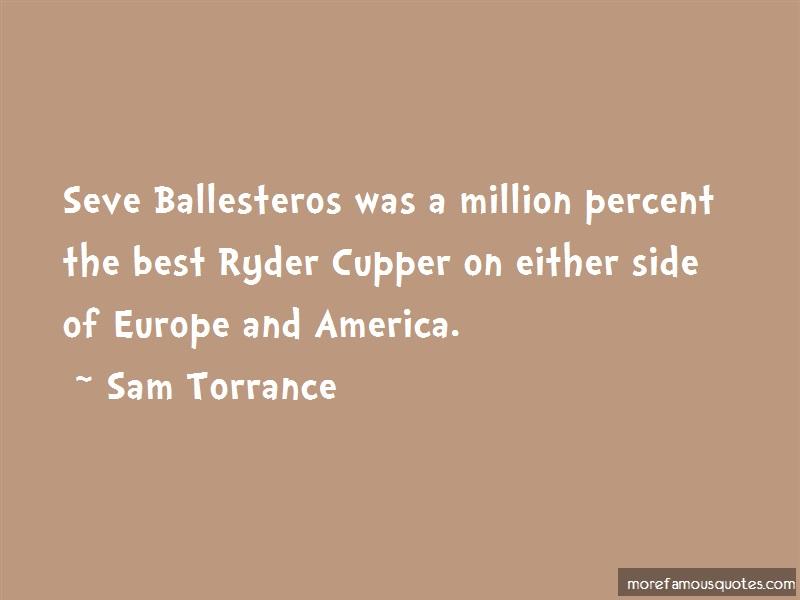 Sam Torrance Quotes: Seve Ballesteros Was A Million Percent