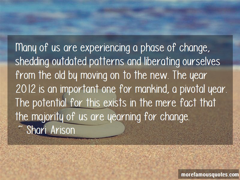 Shari Arison Quotes: Many Of Us Are Experiencing A Phase Of