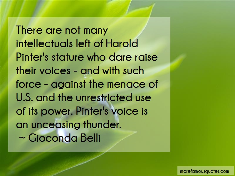 Gioconda Belli Quotes: There are not many intellectuals left of