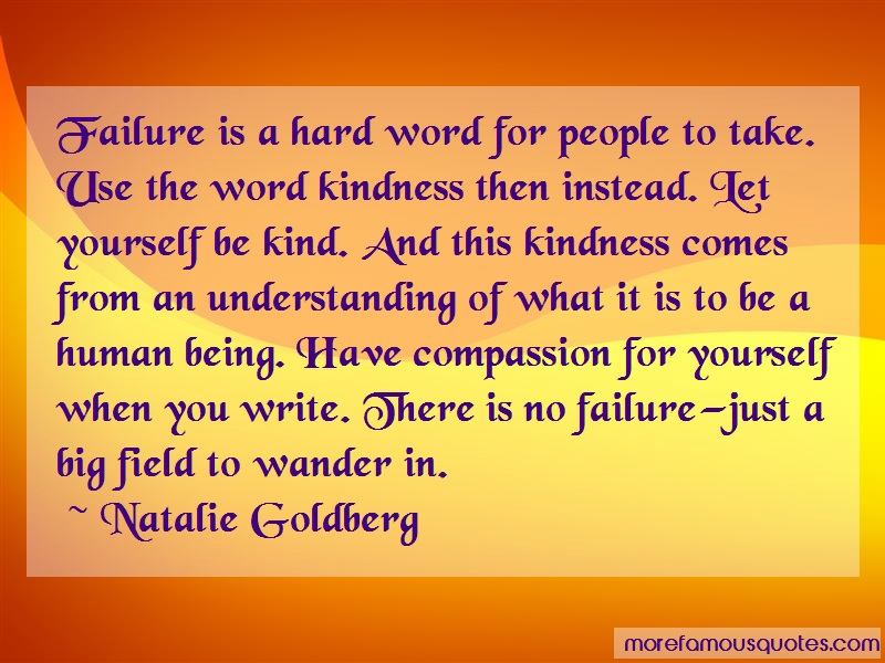 Natalie Goldberg Quotes: Failure Is A Hard Word For People To