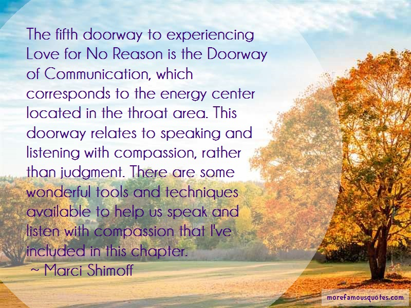 Marci Shimoff Quotes: The Fifth Doorway To Experiencing Love