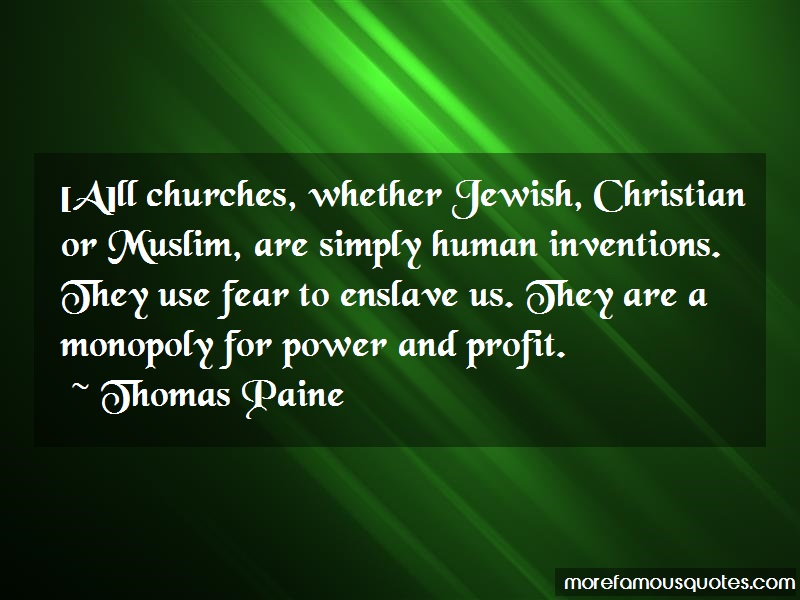 churches seeking power and profit and