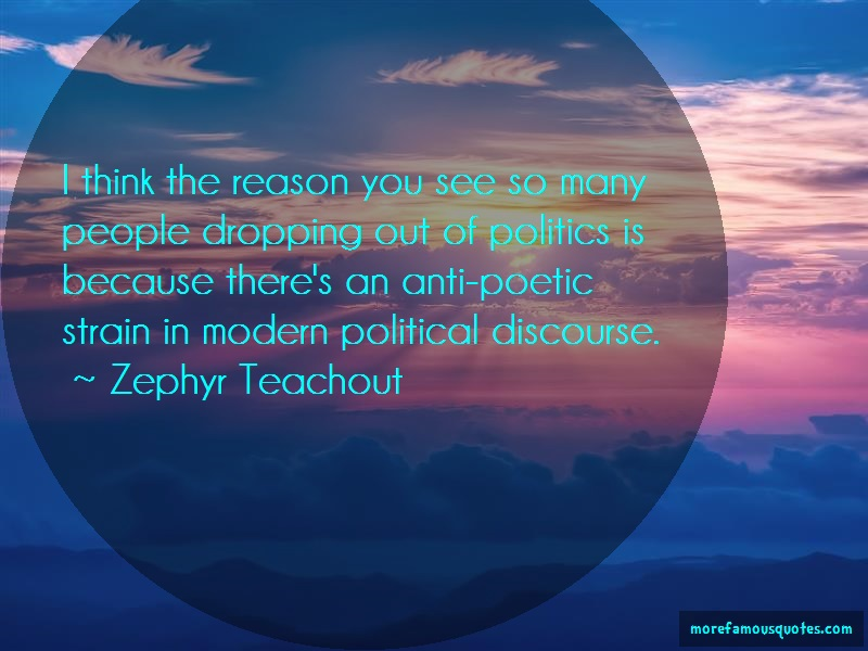 Zephyr Teachout Quotes: I Think The Reason You See So Many