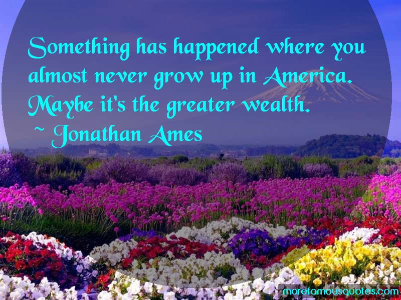 Jonathan Ames Quotes: Something has happened where you almost