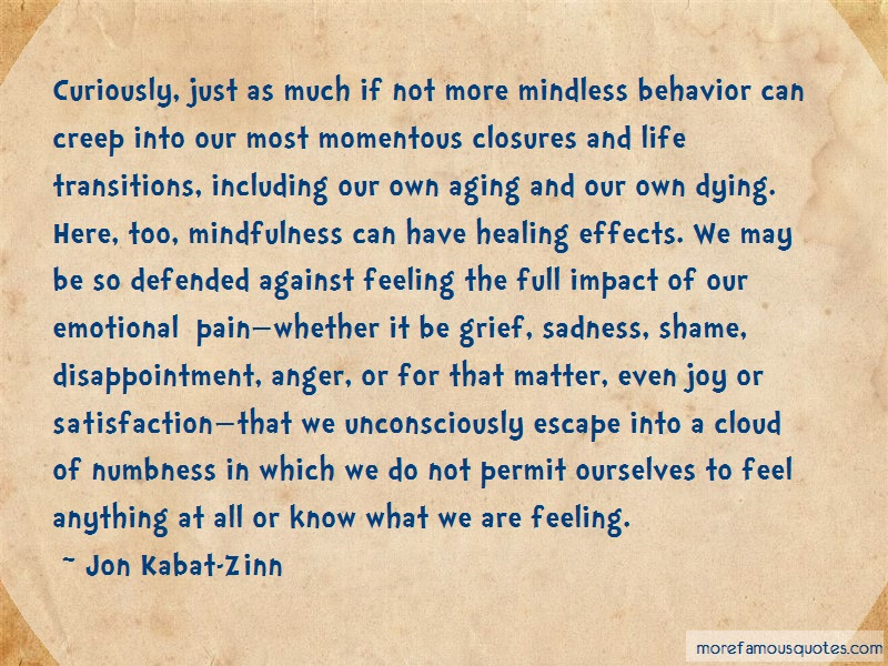 Jon Kabat-Zinn Quotes: Curiously just as much if not more