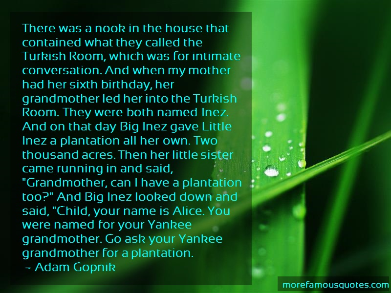 Adam Gopnik Quotes: There was a nook in the house that