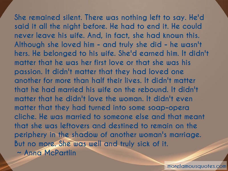 Anna McPartlin Quotes: She Remained Silent There Was Nothing