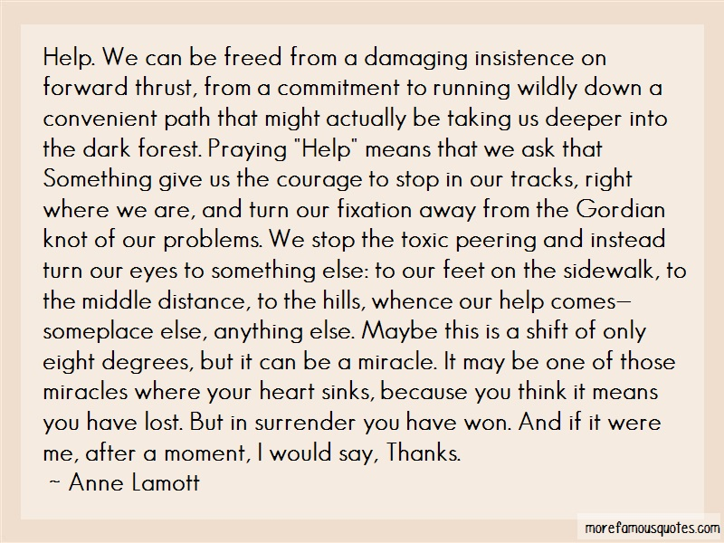 Anne Lamott Quotes: Help We Can Be Freed From A Damaging