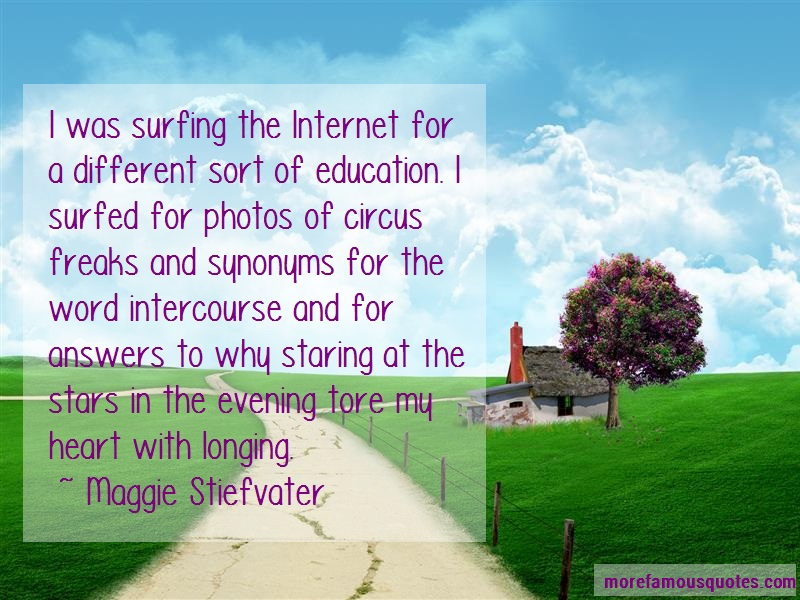 Maggie Stiefvater Quotes: I Was Surfing The Internet For A