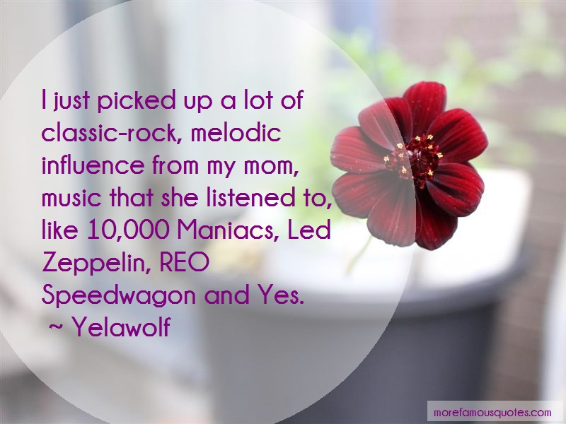 Yelawolf Quotes: I Just Picked Up A Lot Of Classic Rock
