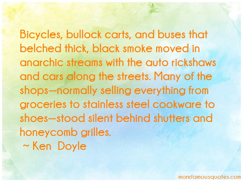 Ken Doyle Quotes: Bicycles bullock carts and buses that