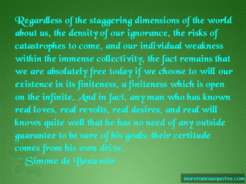 Simone De Beauvoir Quotes: Regardless Of The Staggering Dimensions