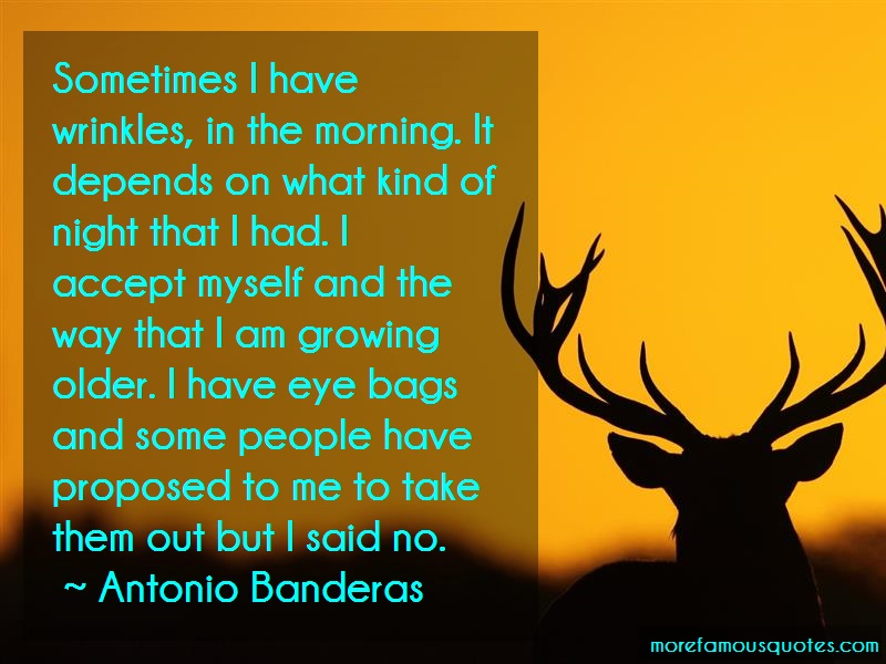 Antonio Banderas Quotes: Sometimes I Have Wrinkles In The Morning