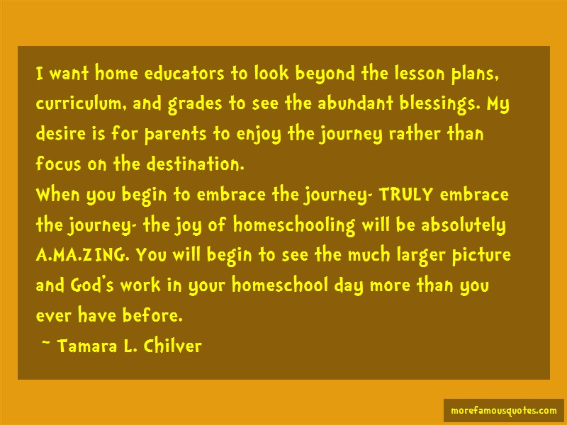 Tamara L. Chilver Quotes: I want home educators to look beyond the
