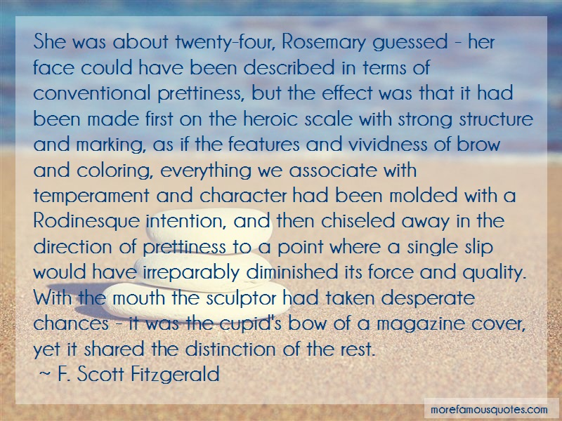 F. Scott Fitzgerald Quotes: She Was About Twenty Four Rosemary