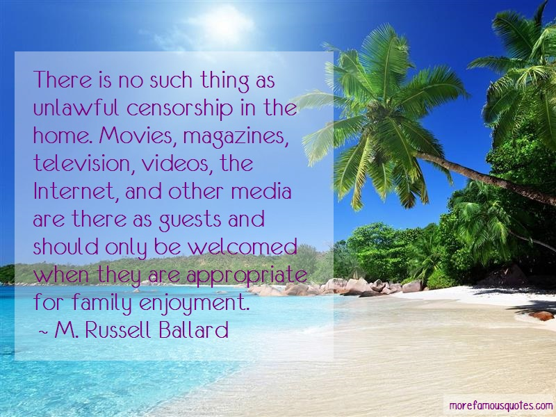 M. Russell Ballard Quotes: There Is No Such Thing As Unlawful