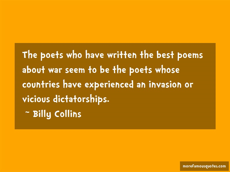the poetry of collins