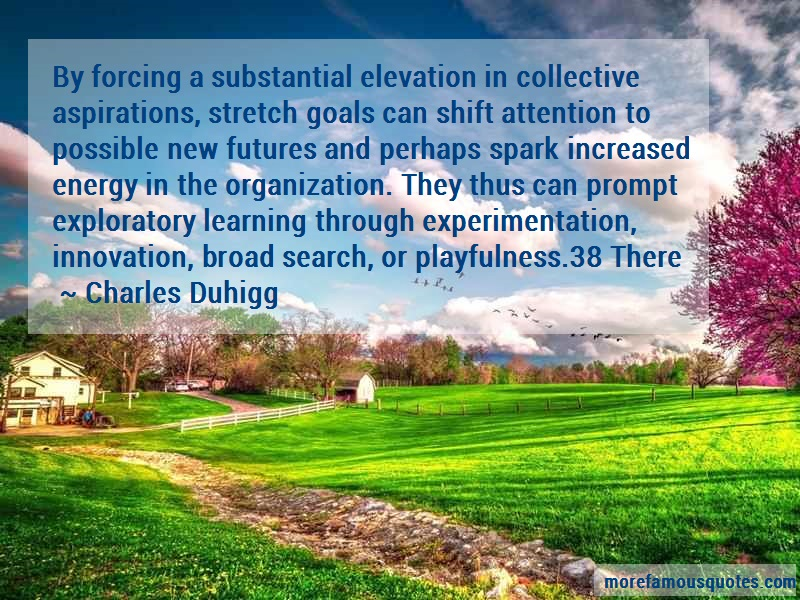 Charles Duhigg Quotes: By forcing a substantial elevation in