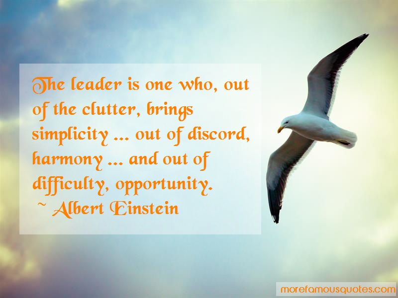 Albert Einstein Quotes: The Leader Is One Who Out Of The Clutter